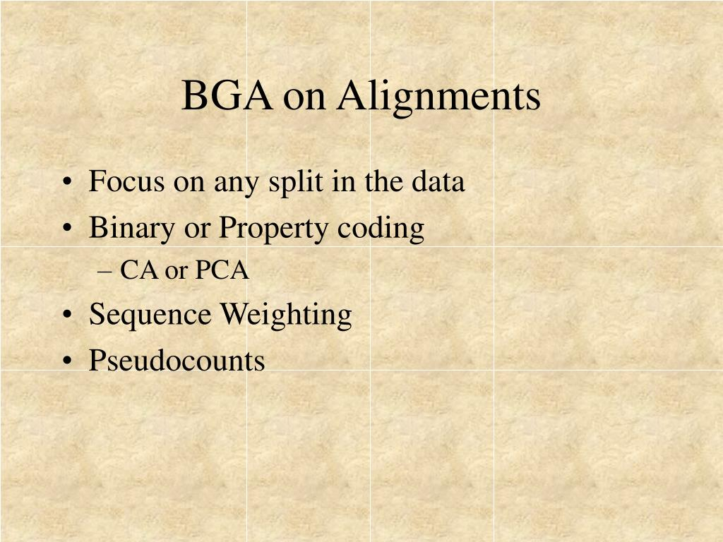 BGA on Alignments