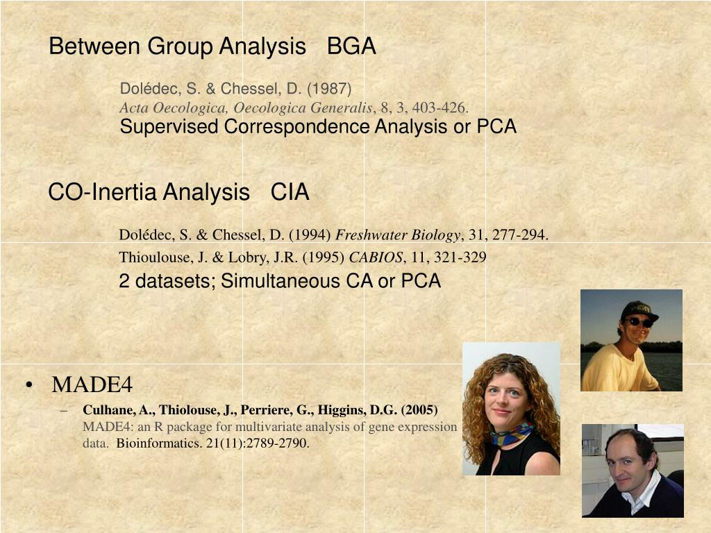 Between Group Analysis   BGA