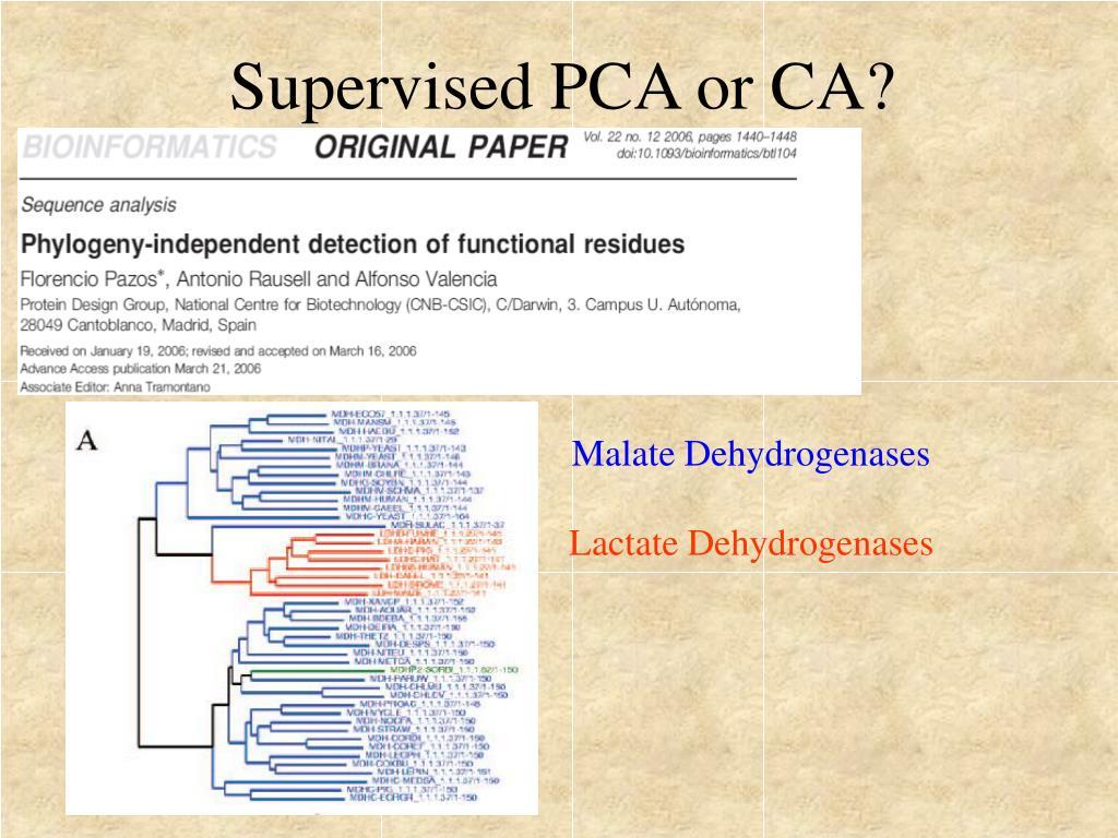 Supervised PCA or CA?