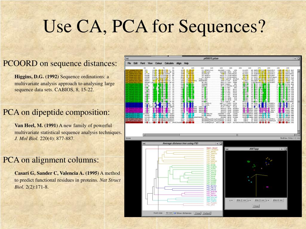 Use CA, PCA for Sequences?