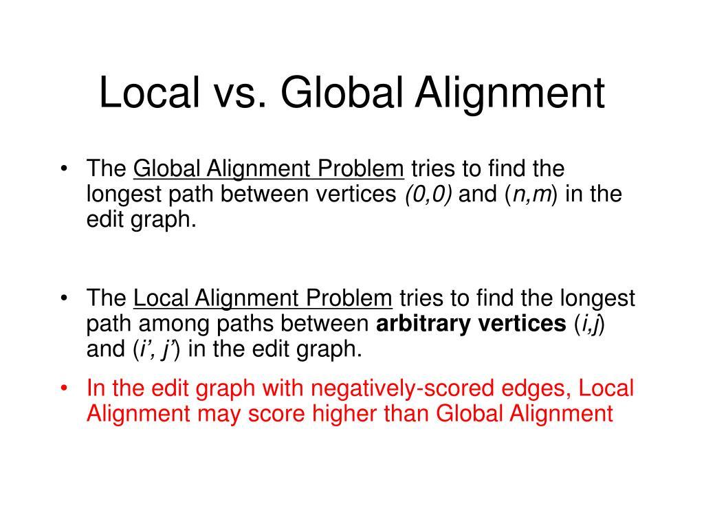 Local vs. Global Alignment