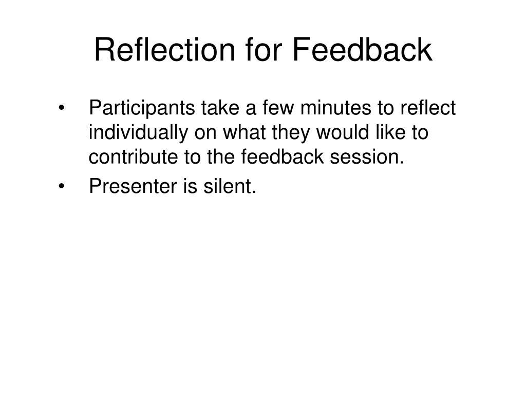 Reflection for Feedback
