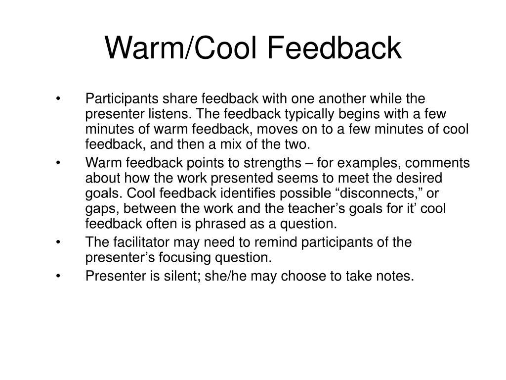 Warm/Cool Feedback