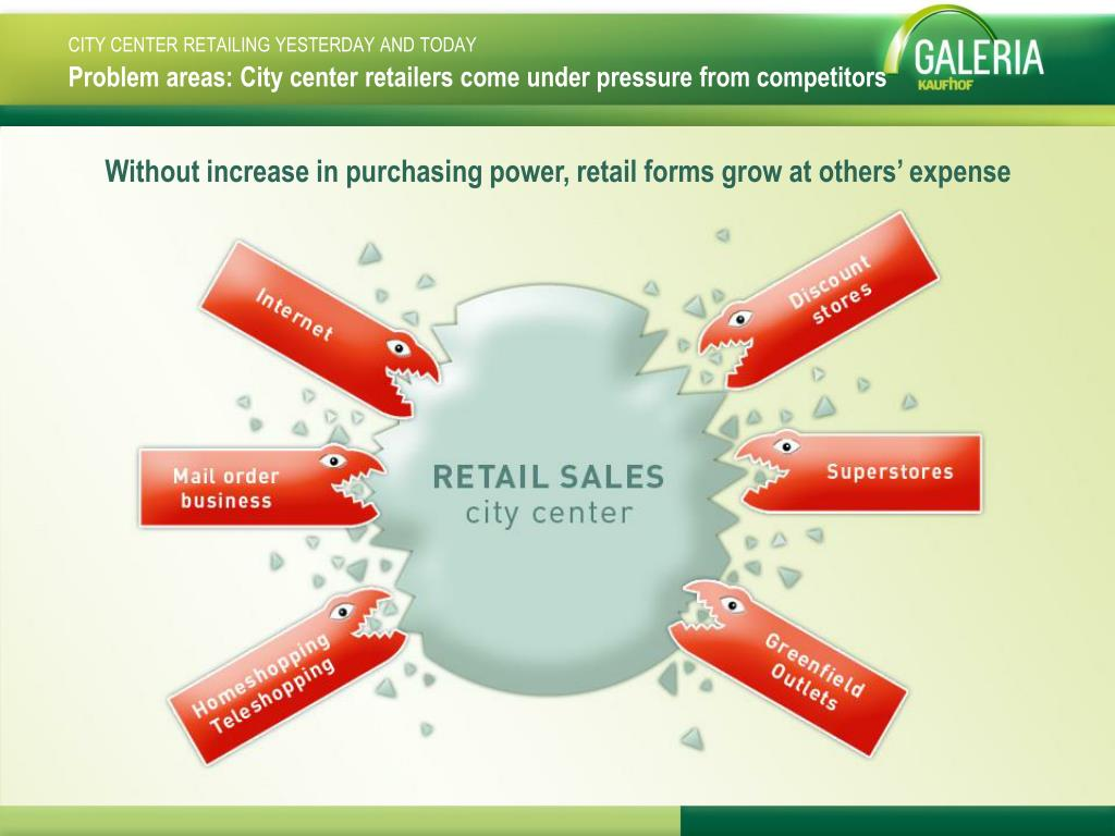 Problem areas: City center retailers come under pressure from competitors