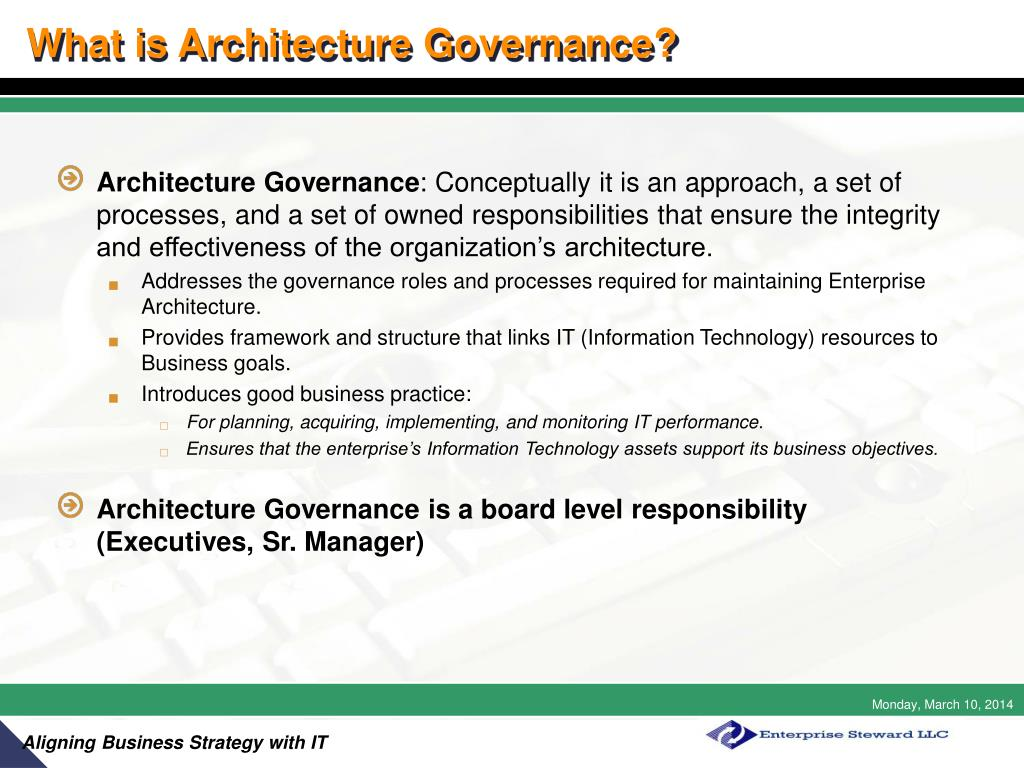 What is Architecture Governance?