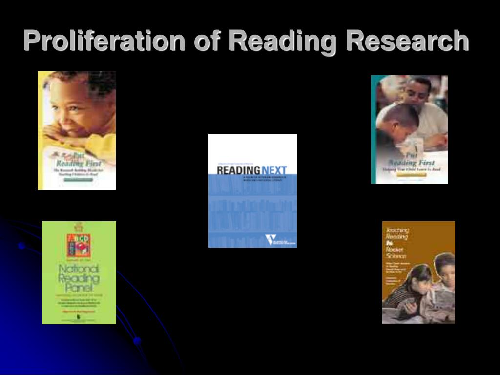 Proliferation of Reading Research