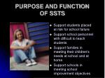purpose and function of ssts
