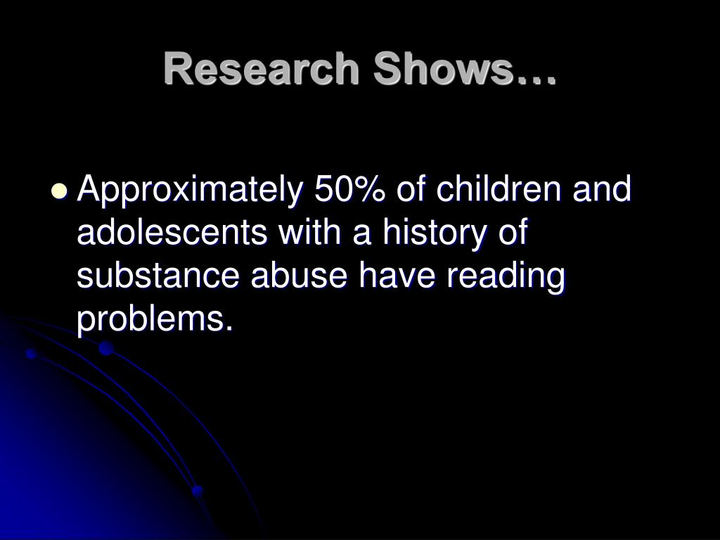 Research Shows…