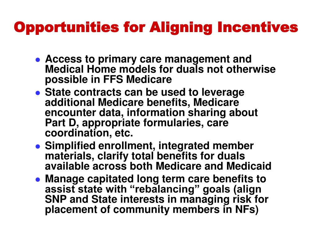 Opportunities for Aligning Incentives
