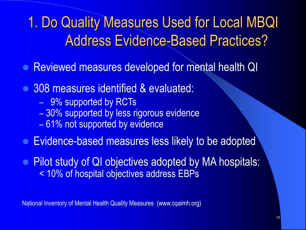1. Do Quality Measures Used for Local MBQI