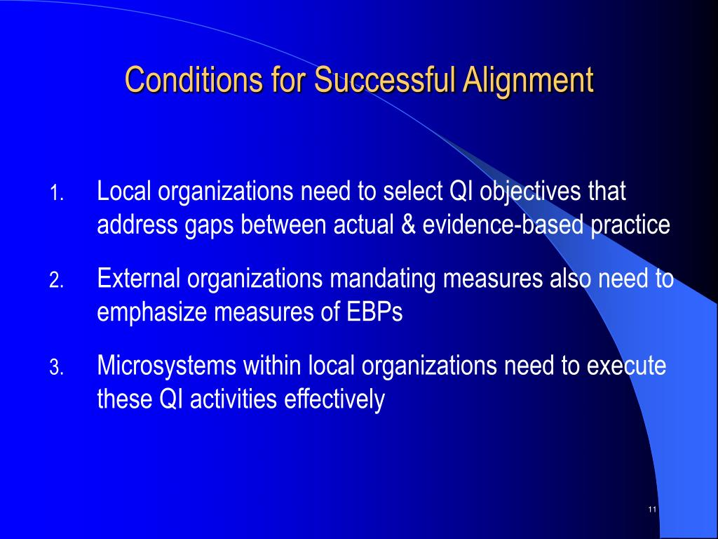 Conditions for Successful Alignment