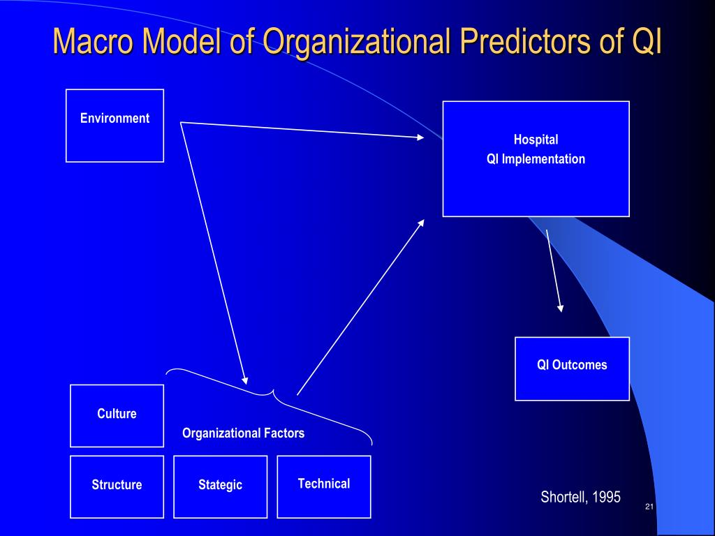 Macro Model of Organizational Predictors of QI