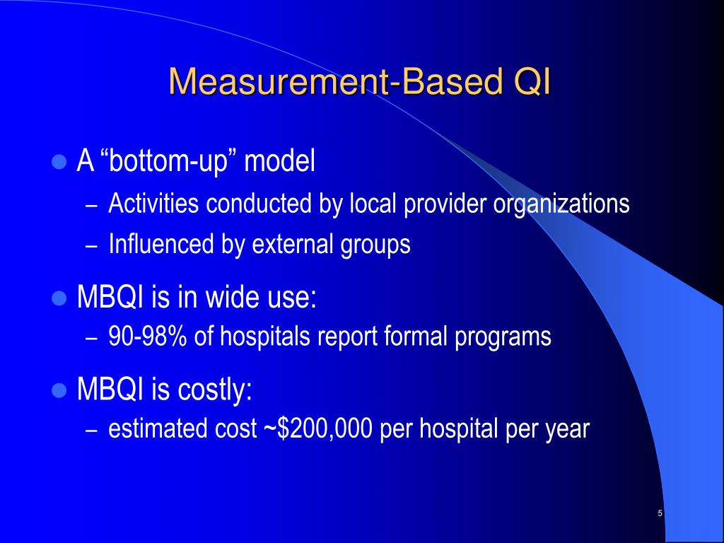 Measurement-Based QI