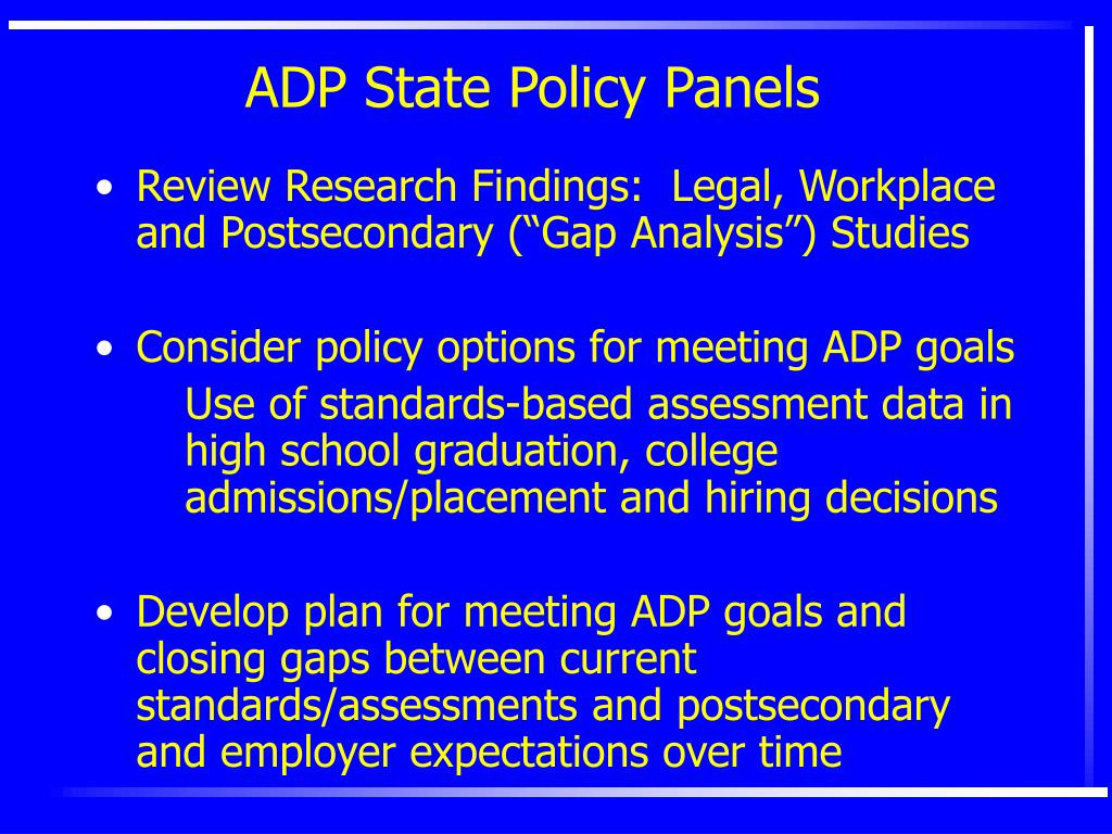ADP State Policy Panels
