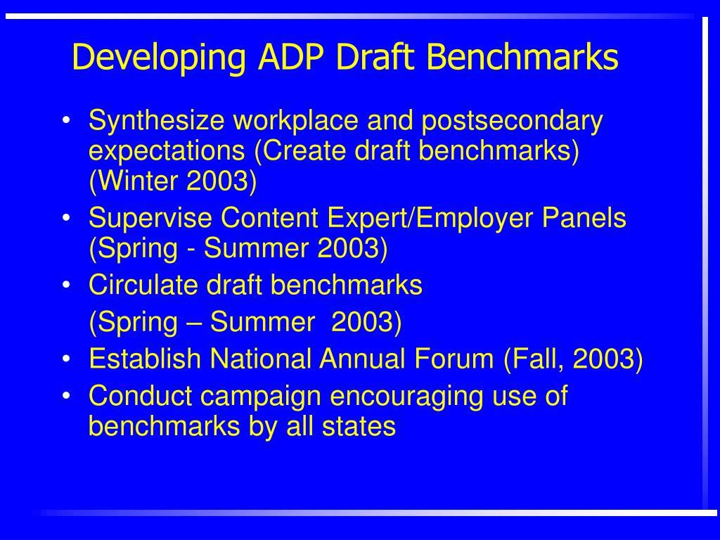 Developing ADP Draft Benchmarks