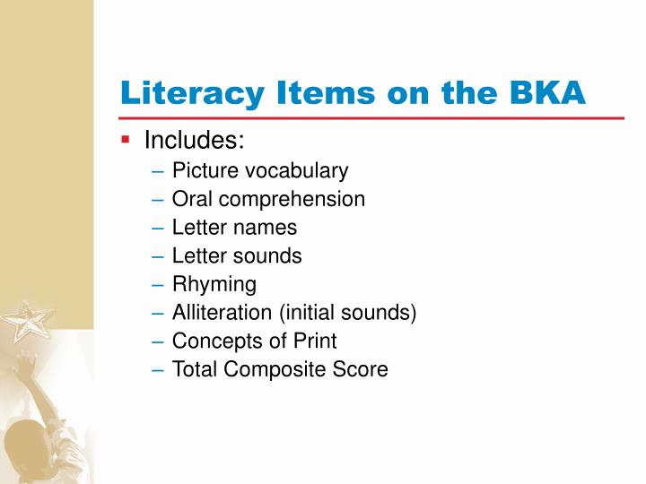 Literacy Items on the BKA