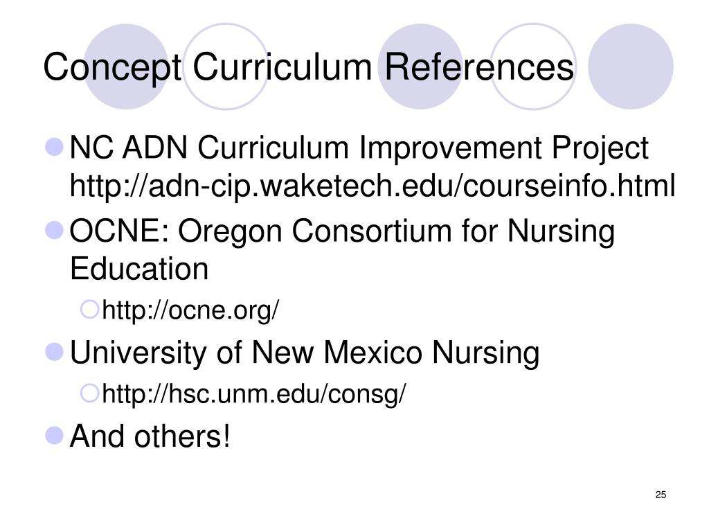 Concept Curriculum References