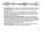 nclex rn integrated processes