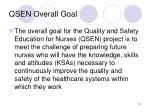 qsen overall goal