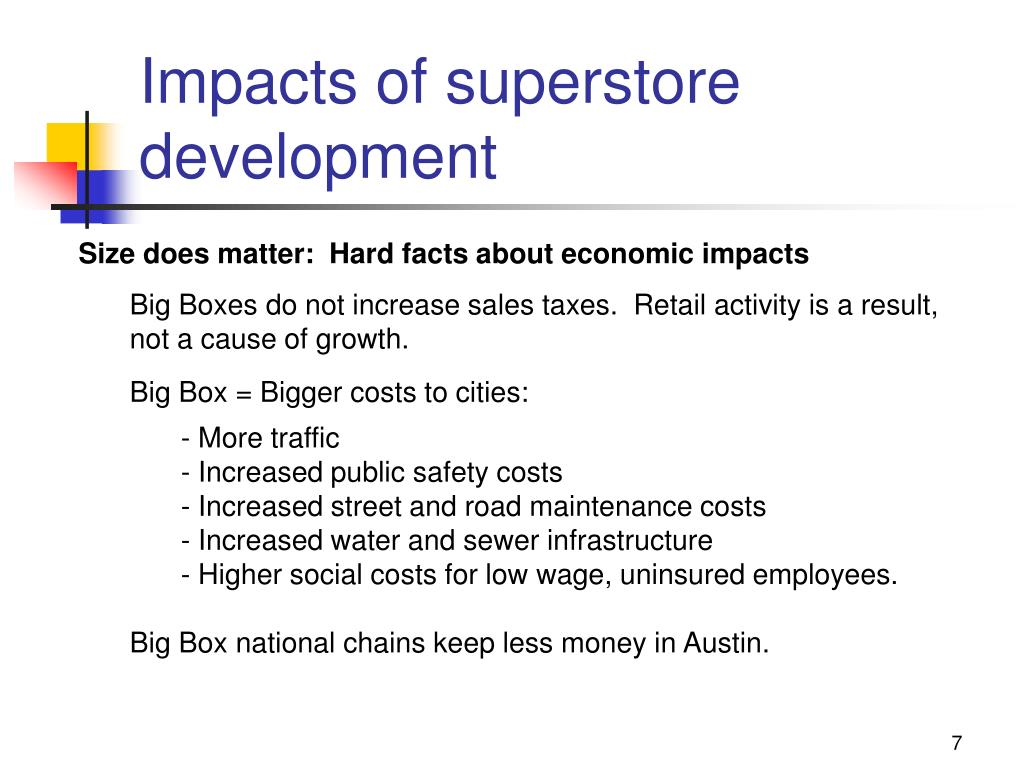Impacts of superstore development