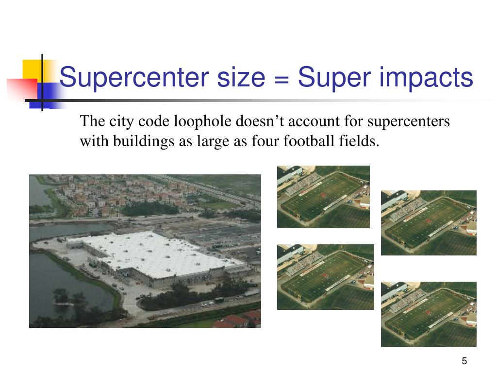 Supercenter size = Super impacts