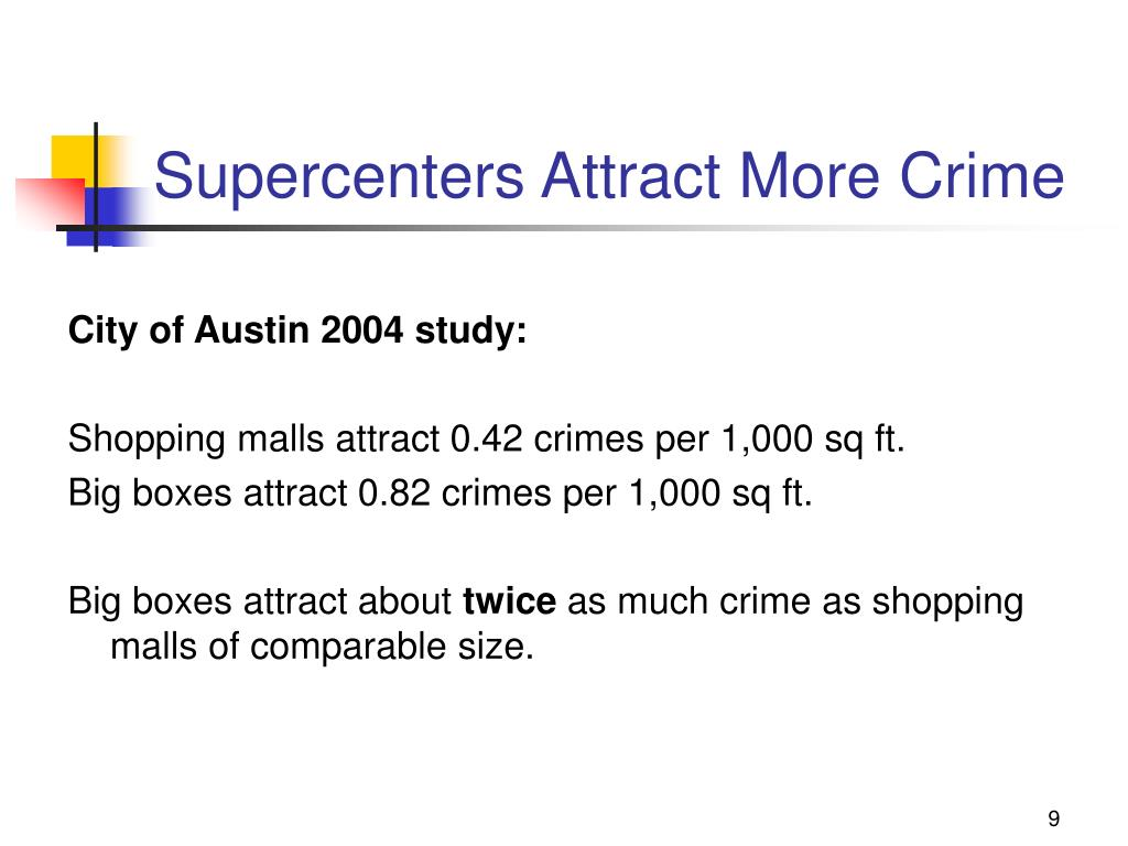 Supercenters Attract More Crime
