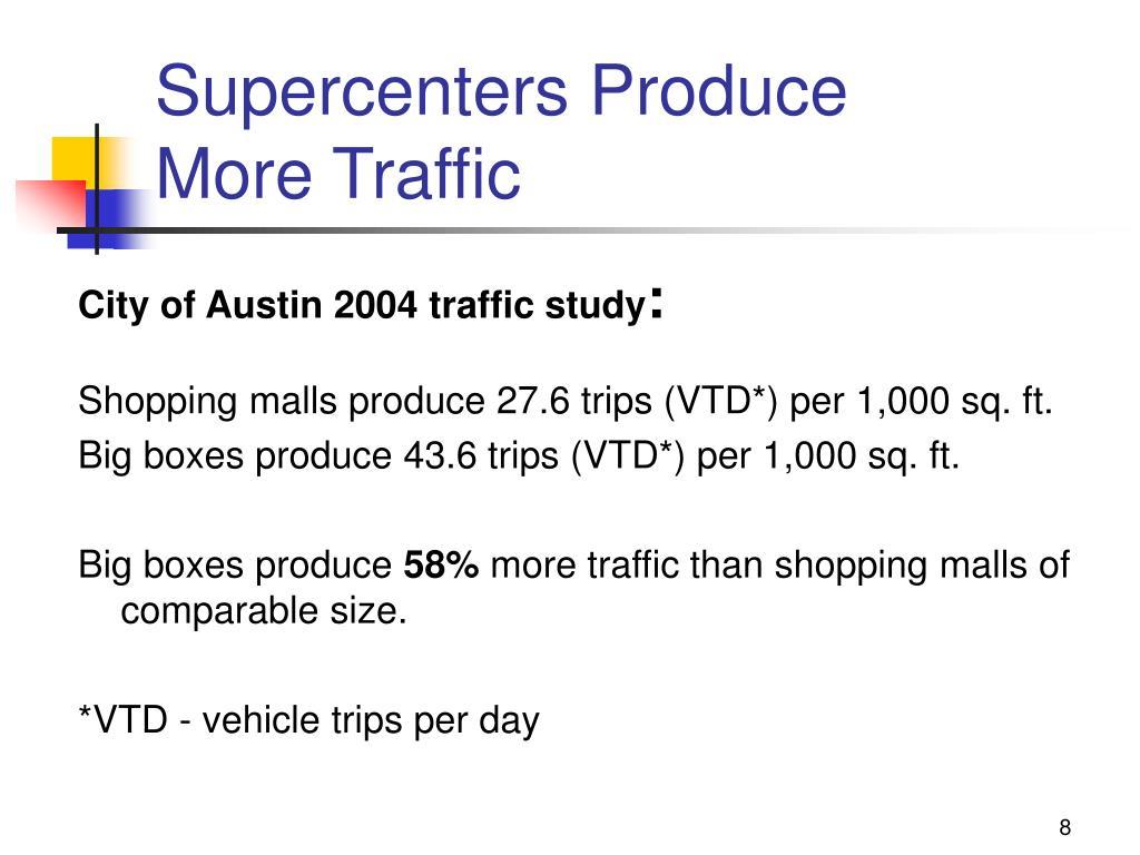 Supercenters Produce