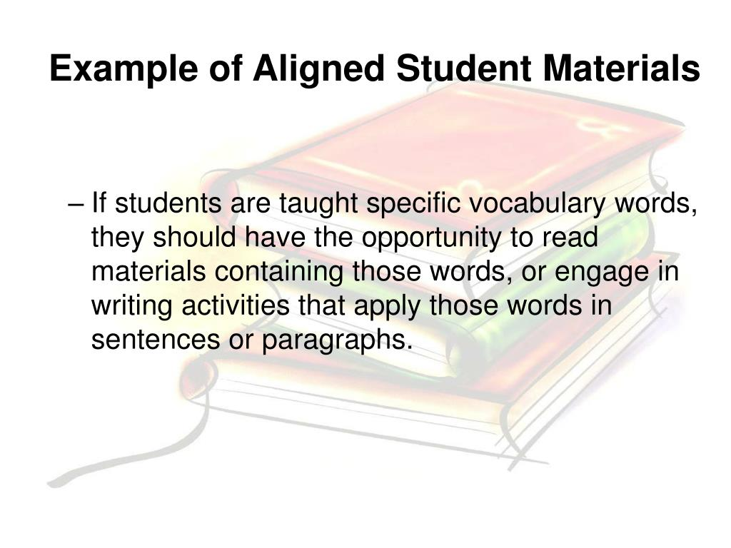 Example of Aligned Student Materials