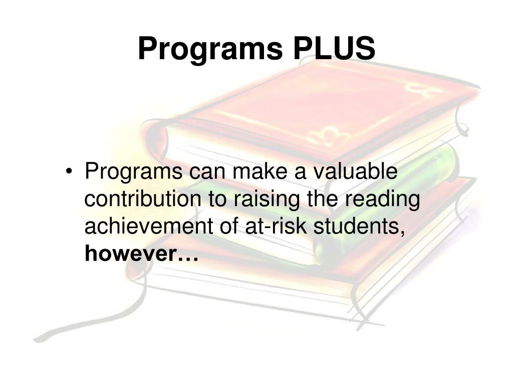 Programs PLUS