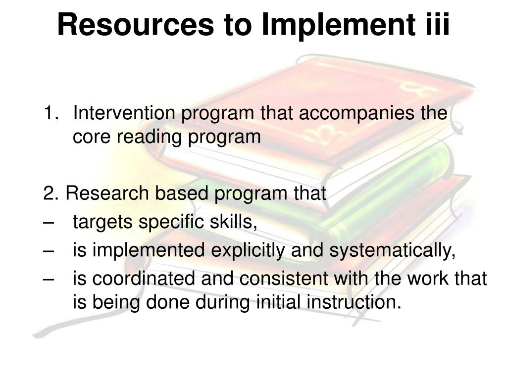Resources to Implement iii