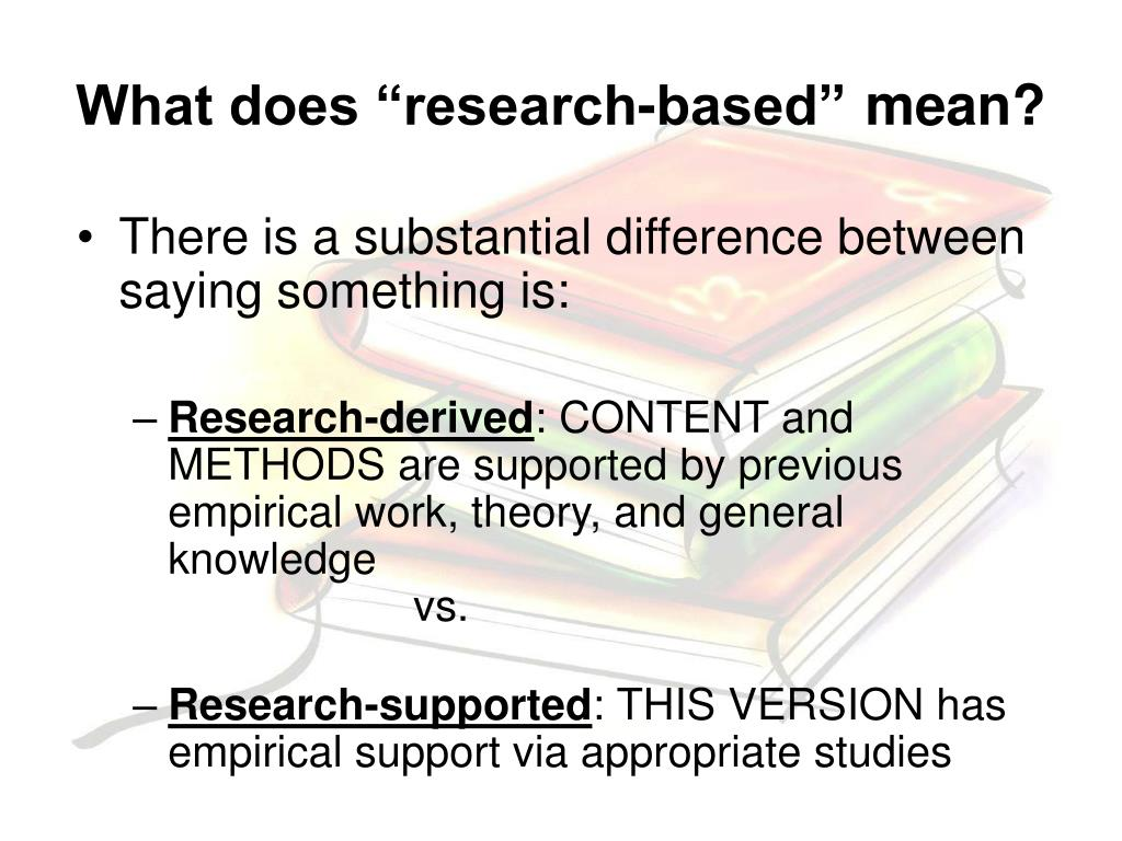 """What does """"research-based"""""""