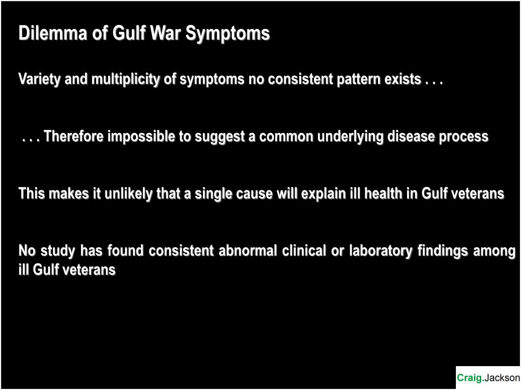 Dilemma of Gulf War Symptoms