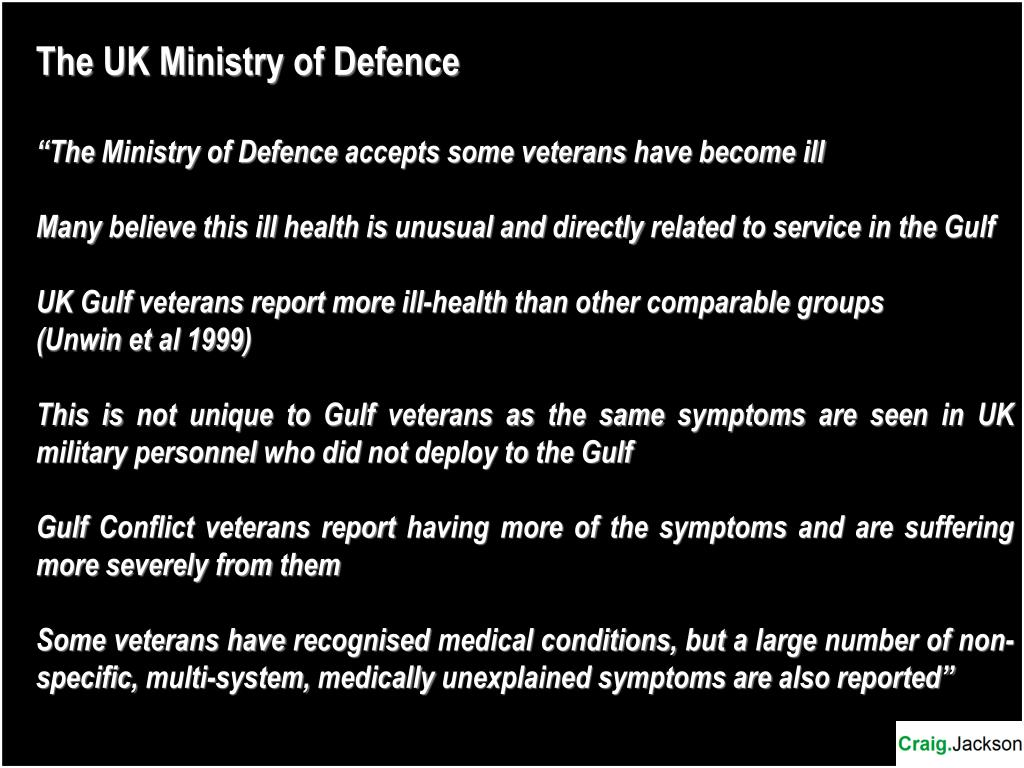 The UK Ministry of Defence