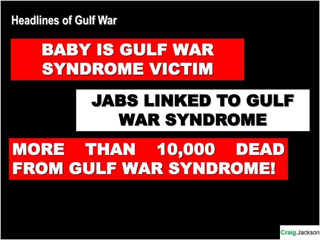 Headlines of Gulf War
