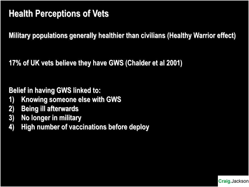 Health Perceptions of Vets