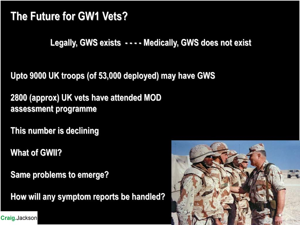 The Future for GW1 Vets?
