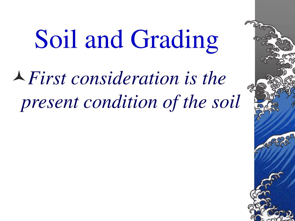 Soil and Grading
