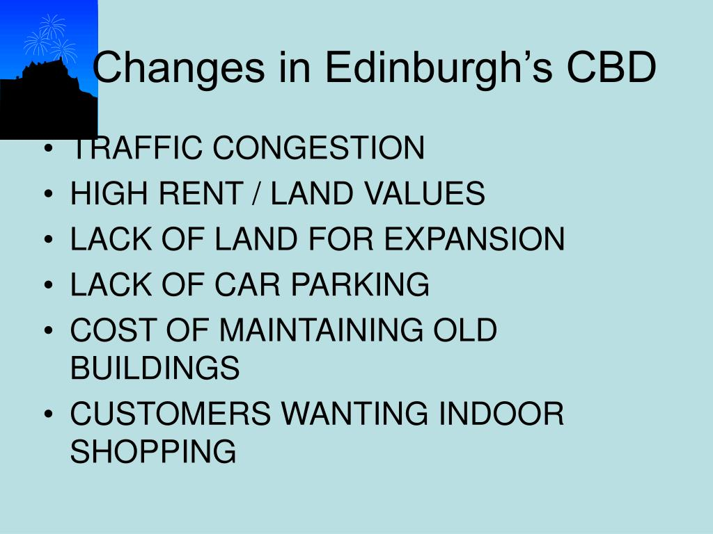 Changes in Edinburgh's CBD
