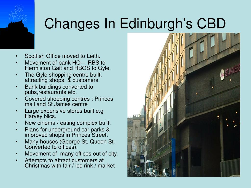 Scottish Office moved to Leith.