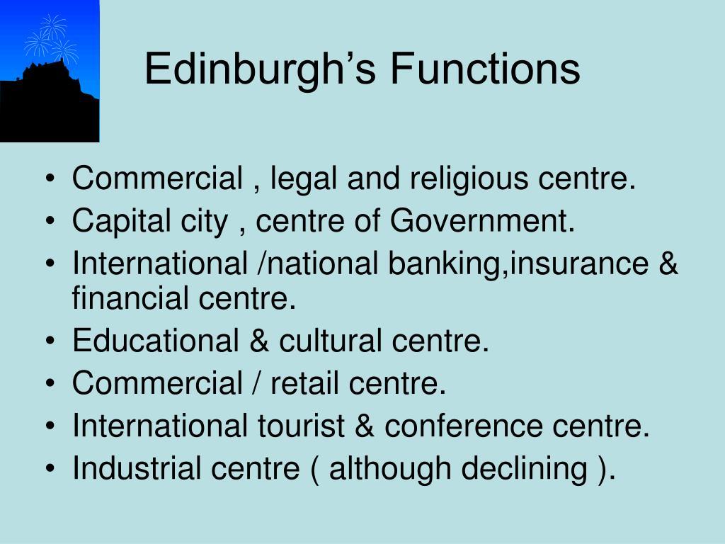 Edinburgh's Functions