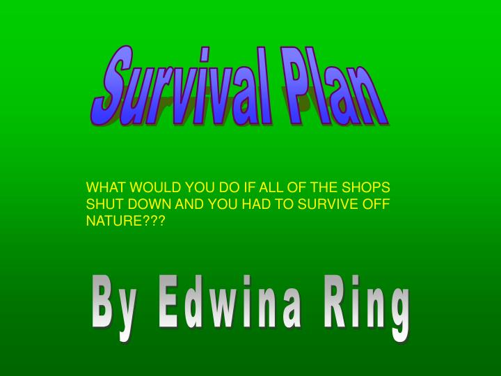 Survival Plan