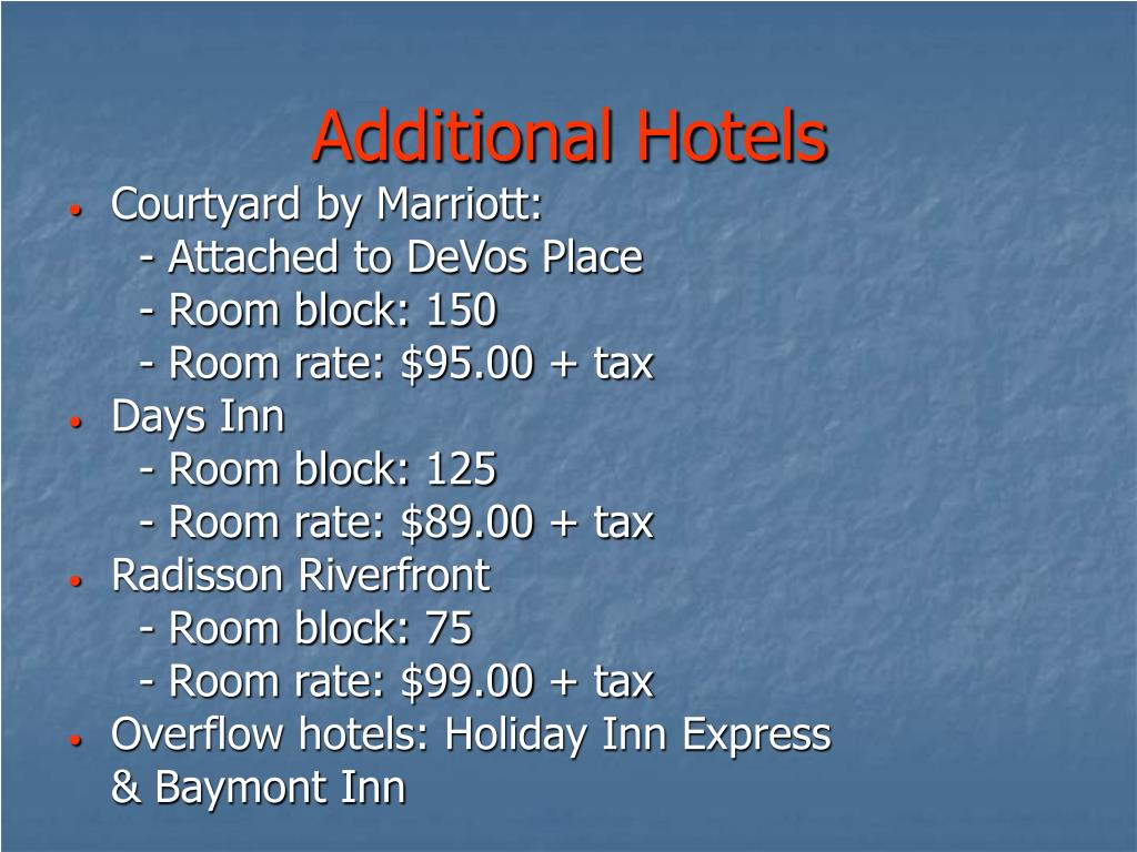 Additional Hotels