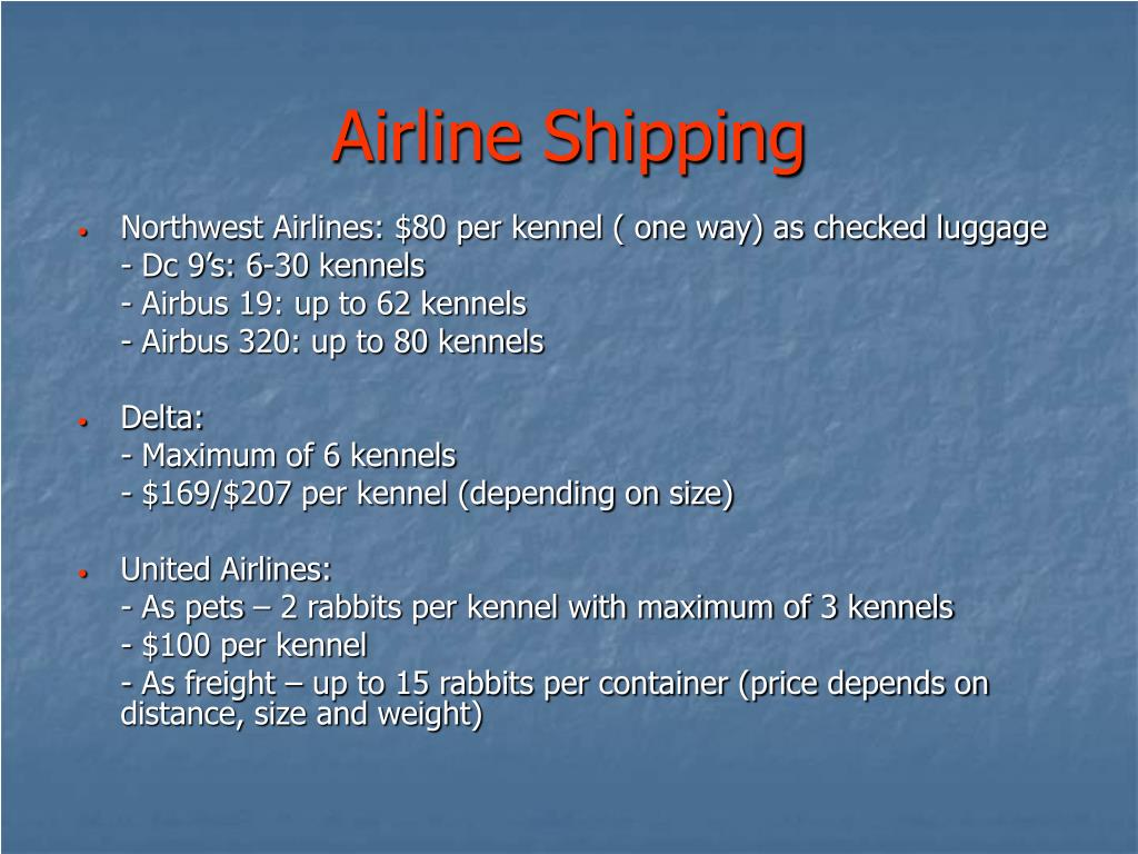 Airline Shipping
