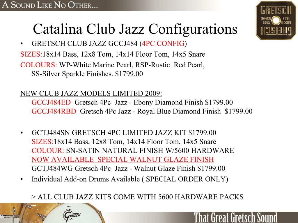 Catalina Club Jazz Configurations