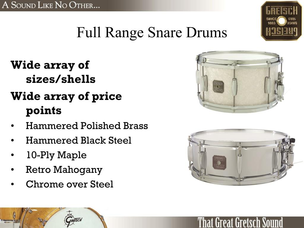 Full Range Snare Drums