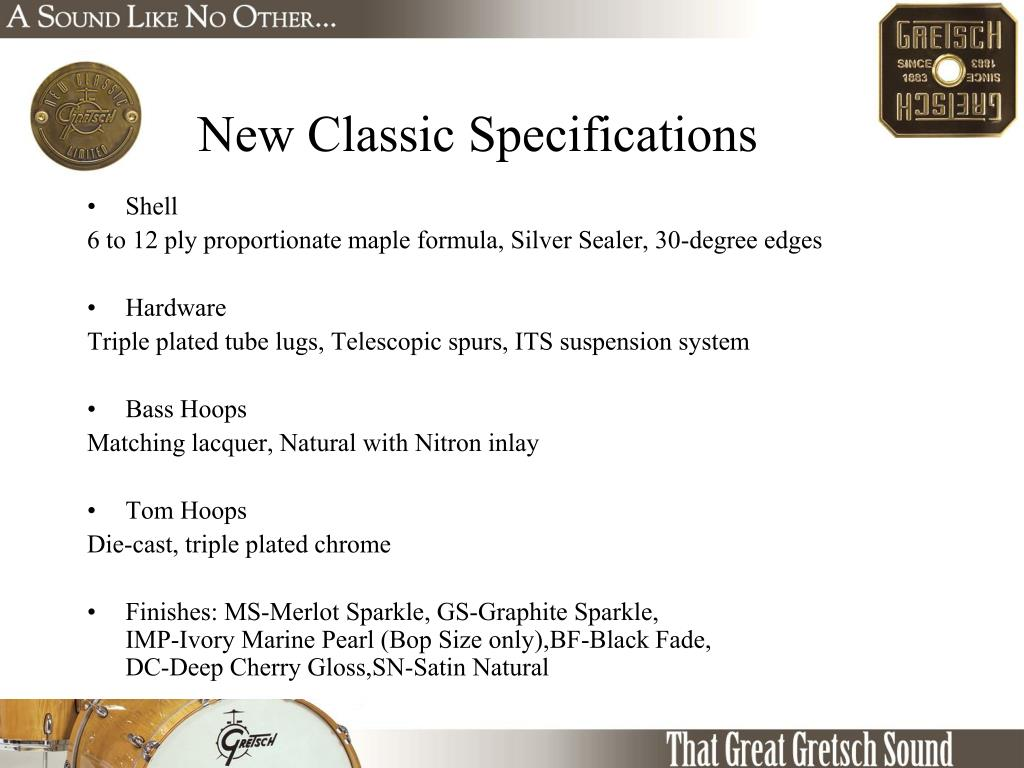 New Classic Specifications