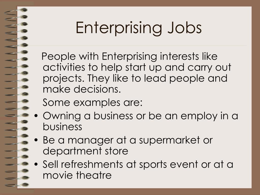 Enterprising Jobs
