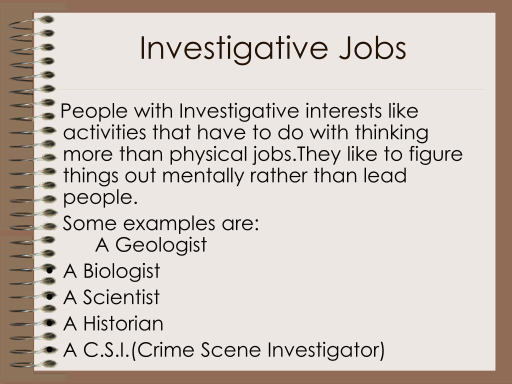 Investigative Jobs