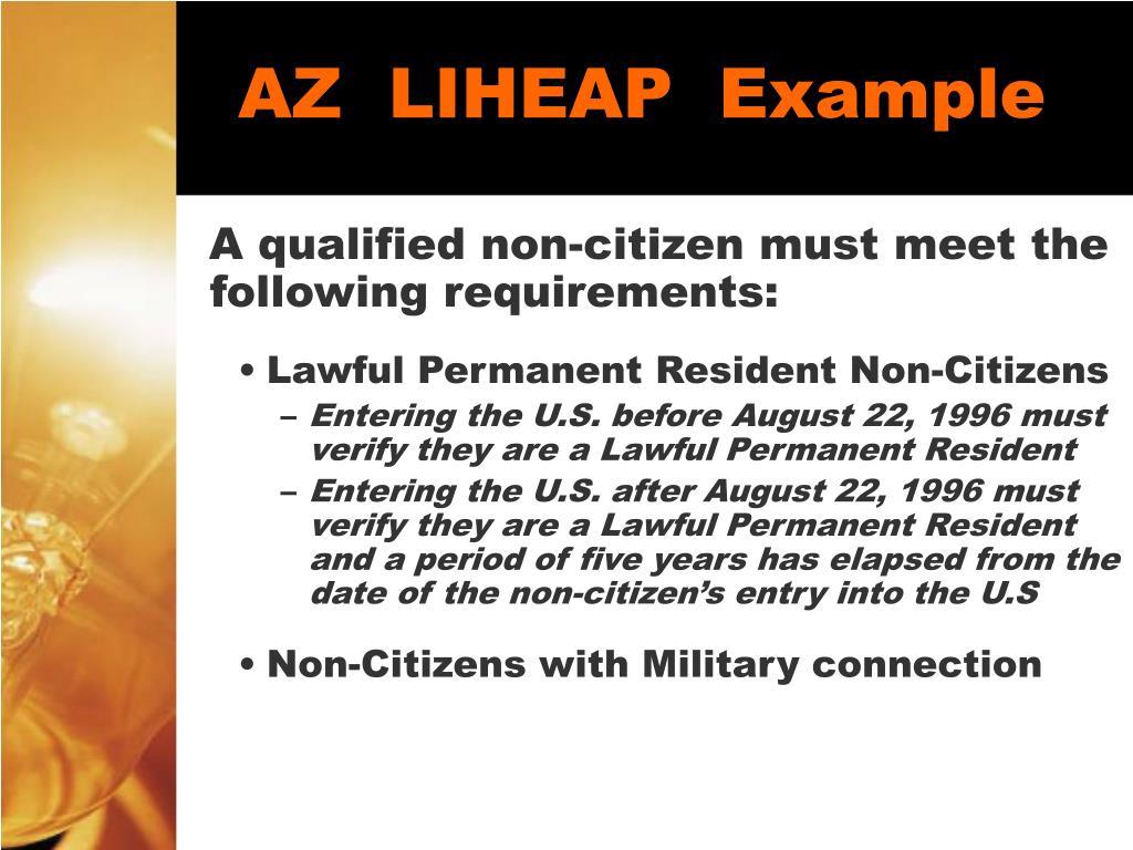 AZ  LIHEAP  Example