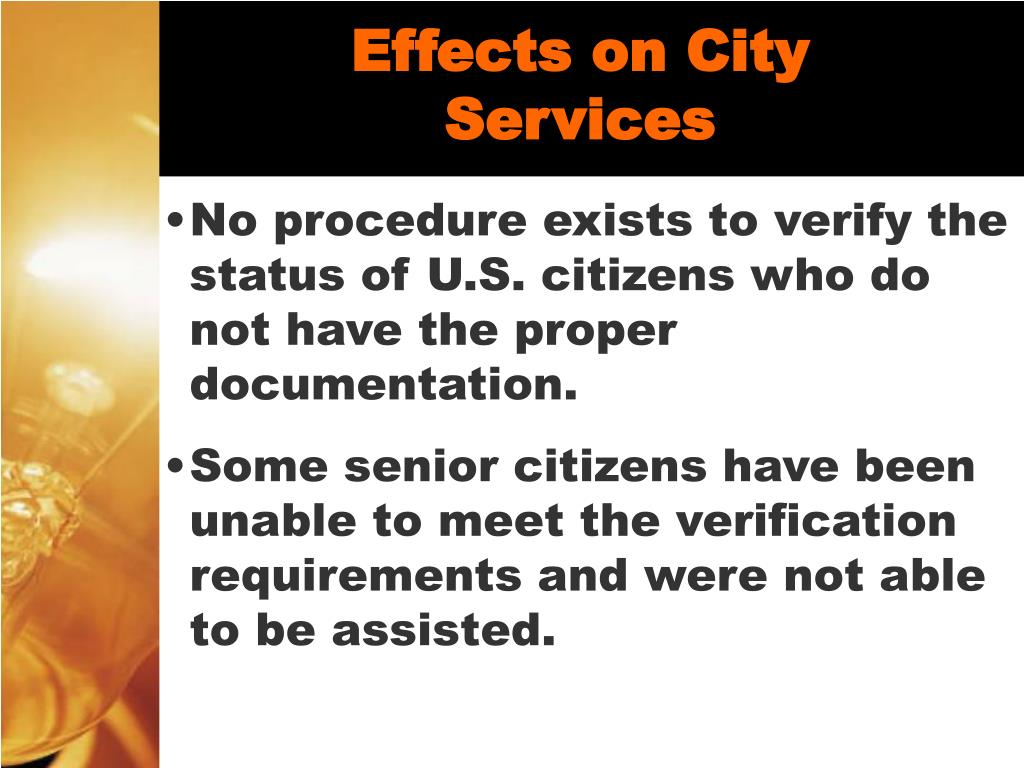 Effects on City Services